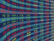 Un quadro comandi del mercato azionario quotidiano Fotografia Stock
