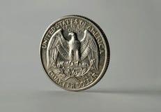 Un quarto di dollaro Fotografie Stock Libere da Diritti