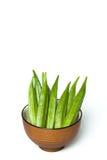 Un quingombó en un cuenco Imagen de archivo