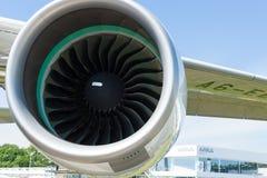 Un réacteur à double flux Rolls-Royce Trent 900 les porteurs au monde - Airbus A380 images libres de droits