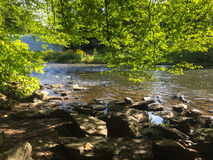 Un río alrededor del ¼ de MÃ ngsten fotografía de archivo libre de regalías