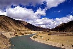 Un río de la curva Fotos de archivo