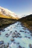 Un río que fluye del hielo de fusión Fotos de archivo libres de regalías