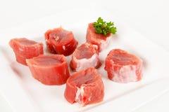 Un raccordo crudo della carne di maiale Fotografia Stock Libera da Diritti