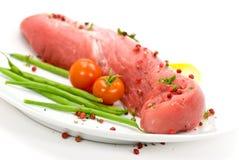 Un raccordo-filetto del porco, grezzo Fotografie Stock