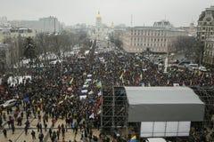Un raduno a Kiev, Ucraina, il 18 febbraio 2018 Immagini Stock