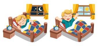 Un ragazzino che dorme sui sogni di stasera Immagini Stock Libere da Diritti