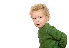 Un ragazzino con uno sguardo impertinente Fotografia Stock Libera da Diritti