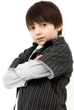 Un ragazzo casuale adorabile di sei anni Fotografia Stock Libera da Diritti