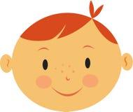 Un ragazzo con capelli rossi Fotografia Stock