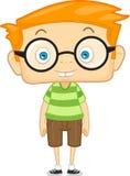 Un ragazzo del bambino del nerd Fotografie Stock Libere da Diritti
