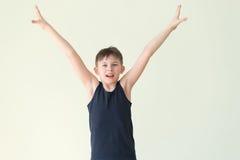 Un ragazzo del vincitore Fotografie Stock Libere da Diritti