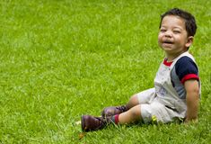 Un ragazzo di due anni Immagine Stock