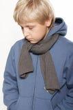 Un ragazzo di undici anni di upset Immagini Stock