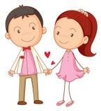 Un ragazzo e una ragazza royalty illustrazione gratis