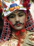 Un ragazzo in Gai Jatra (il festival delle mucche) Fotografie Stock Libere da Diritti