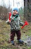 Un ragazzo nel giardino Fotografia Stock Libera da Diritti