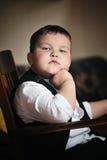 Un ragazzo serio Fotografie Stock Libere da Diritti