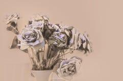 Un ramo de flores de papel como papel pintado Foto de archivo libre de regalías