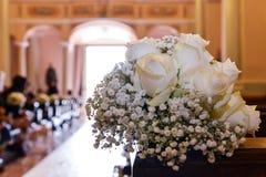 Un ramo de rosas blancas Fotografía de archivo