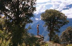 1975. Vues magnifiques. Le Népal Image libre de droits