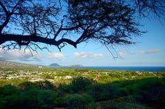Un rastro al punto de vista del cráter de Diamond Head en Oahu Imagen de archivo libre de regalías