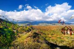 Un rastro al punto de vista del cráter de Diamond Head en Oahu Fotografía de archivo