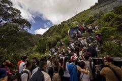 Un rastro apretado de Monserrate en Bogotá Colombia Fotos de archivo libres de regalías