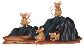 Un ratto in un foro royalty illustrazione gratis