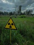 Un rayonnement signent dedans Chernobyl image libre de droits