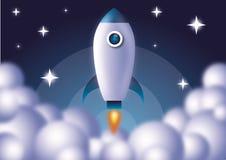 Un razzo di spazio 03 illustrazione vettoriale