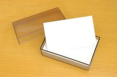 Un rectángulo de la tarjeta de visita en blanco Imagen de archivo libre de regalías