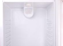 Un refrigerador vacío Foto de archivo libre de regalías