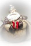 Un regalo de Santa Claus Humo blanco Fotografía de archivo libre de regalías