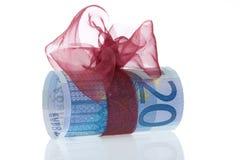 Un regalo dell'euro 20 Fotografie Stock Libere da Diritti
