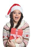 Un regalo para la Navidad Fotografía de archivo libre de regalías