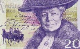 Détails de billet de banque de couronne suédoise Photos stock