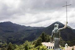Un regard chez les Andes de placé sur Monserrate Image libre de droits