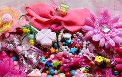 Un regno dei piccoli girlnel rosa Immagine Stock Libera da Diritti