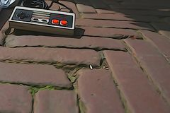 Un regulador de Nintendo que pone en encontrado ilustración del vector