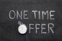 Un reloj de la oferta del tiempo Foto de archivo libre de regalías