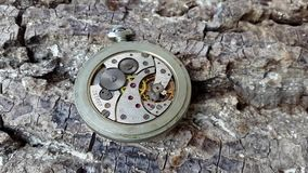 Un reloj tradicional en la acción metrajes