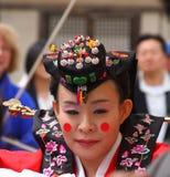 Un rendement du mariage coréen traditionnel Image stock