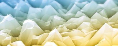 Un rendu 3d coloré de bas poly fond illustration libre de droits