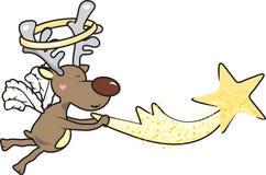 Un reno cogió la estrella el caer Fotografía de archivo libre de regalías