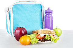 Un repas scolaire emballé Image stock