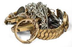 Un residuo dei metalli preziosi fotografie stock