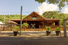 Un restaurante cerrado de la playa en la temporada baja Foto de archivo libre de regalías