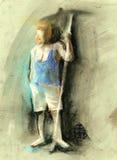 un retrait de geste d'homme dedans sur le papier de texture Photo libre de droits