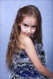Un retrato de la muchacha de la Navidad. Fotografía de archivo libre de regalías